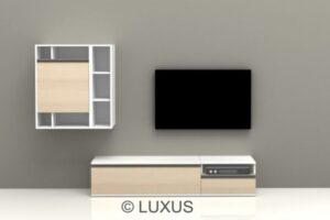 Klara premium TV Unit with one base unit and Wall Unit