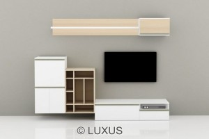 Klara premium tv unit with one base unit and side unit