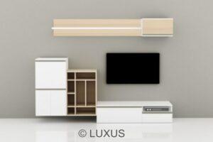 Klara premium tv unit with one base unit and side unit