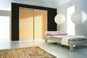 sliding door wardrobe in acacia