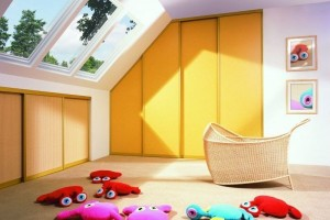 sloping cupboard