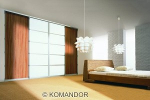 sliding door wardrobe in wenge