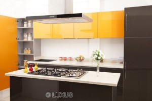 modular kitchen with hob