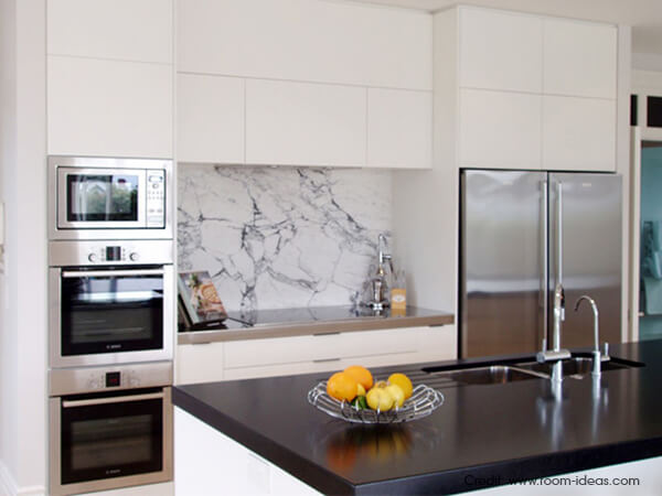 Luxus-Kitchen-Polished plaster