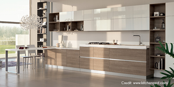 One Side Wall Kitchen Luxus India