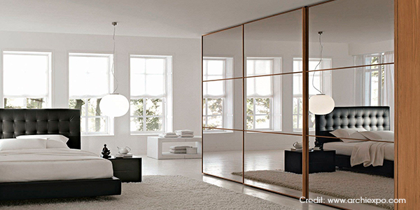 Hinge Door Wardrobe Mirrored And Glass Doors Luxus India