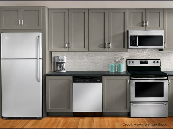 Partially-Integrated-Kitchen-Appliances