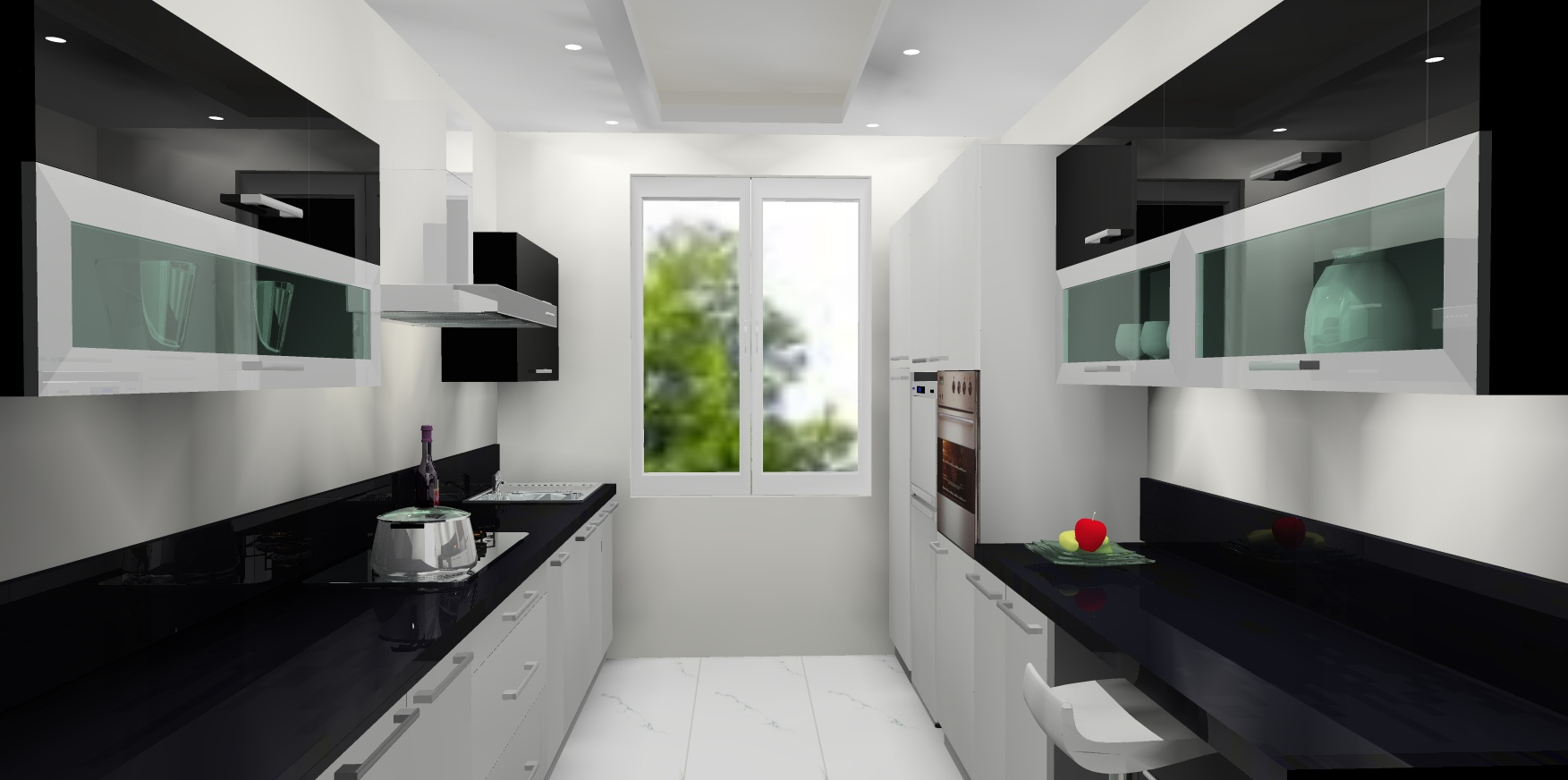 Modular kitchens in hyderabad luxus india for Latest modern kitchen design in india