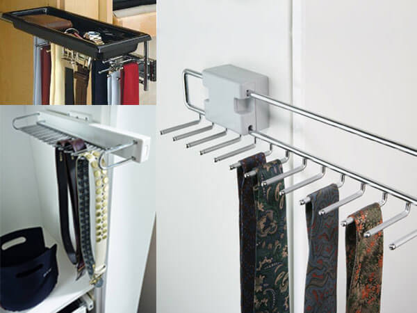 Pull-out-tie-&-belt-rack