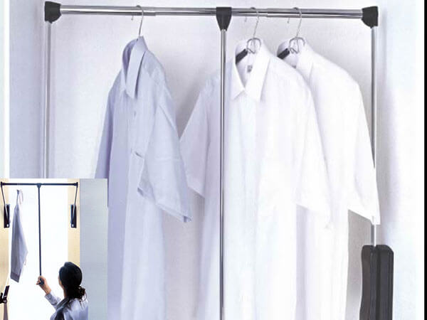 Wardrobe-accessory-Pull-down-hanger-rods