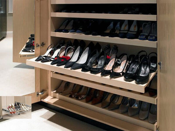 Wardrobe organiser-Pull Out Shoe shelves